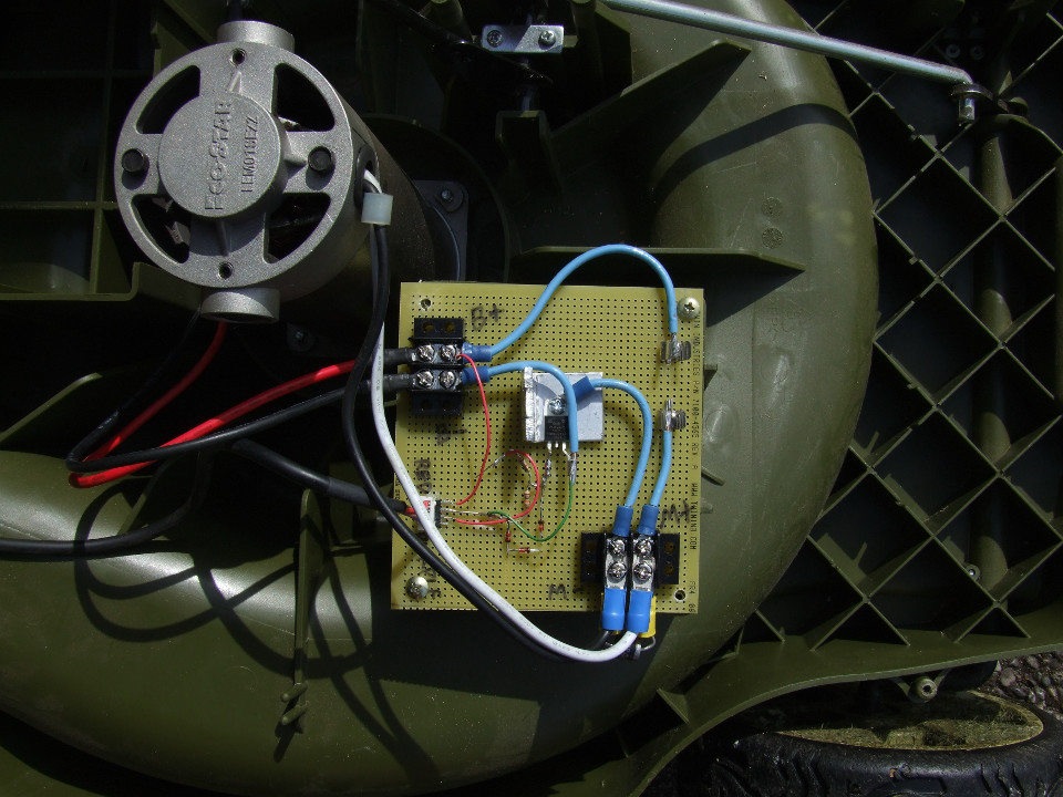 Rechargeable Electric Lawnmower Replacement Control Board - Applied on